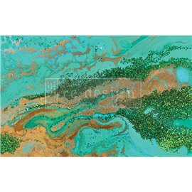 Papier de Murier Mulberry Decoupage Decor Tissue Paper Patina Copper Redesign 48x76cm