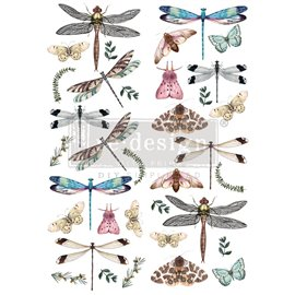 Transfert pelliculable Redesign Riverbed Dragonflies 61x89cm