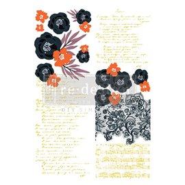 Transfert pelliculable Redesign Collection CeCe Fleur Noire 61x89cm