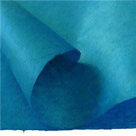 Papier népalais lokta lamaLi bleu cyan