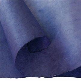 Papier népalais lokta lamaLi bleu violet