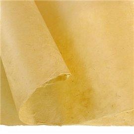 Papier népalais lokta lamaLi jaune paille