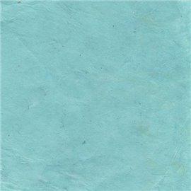 Papier népalais lokta lamaLi bleu ciel