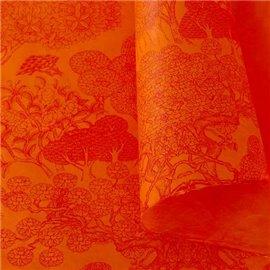 Papier népalais lokta Kongpo lamaLi orange