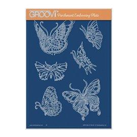 Groovi gabarit parchemin papillons 15x21cm