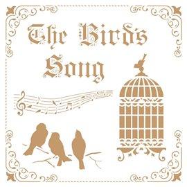 Pochoir décoratif Mya Vintage the bird song 25x25cm - 22x22cm