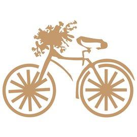 Pochoir décoratif Mya Bicyclette 20x20cm - 17.3x13cm