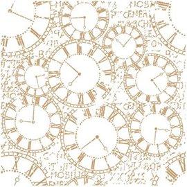 Pochoir décoratif Mya Fond d'horloges 25x25cm - 22x22cm