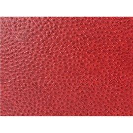 Papier simili cuir reptile Cerise en relief 50x70cm