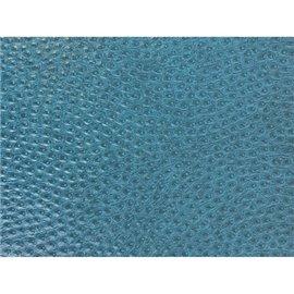 Papier simili cuir reptile Bleu Canard en relief 50x70cm