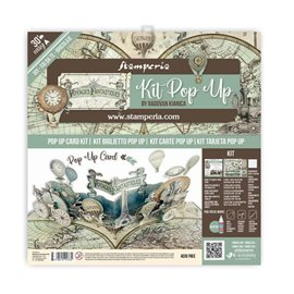 Kit PopUp scrapbooking Voyages fantastiques Stamperia 30x30