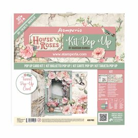 Kit PopUp scrapbooking House of Roses Stamperia 30x30