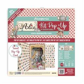 Kit PopUp scrapbooking Alice Stamperia 30x30