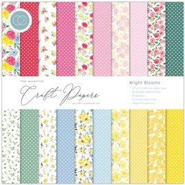 Papier scrapbooking Craft Consortium  Bright Blooms 30fe 30x30 assortiment