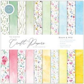 Papier scrapbooking Craft Consortium Bloom & Wild 30fe 30x30 assortiment