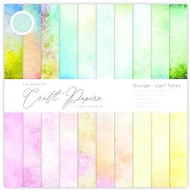 Papier scrapbooking Craft Consortium Grunge Light Tones 30fe 30x30 assortiment