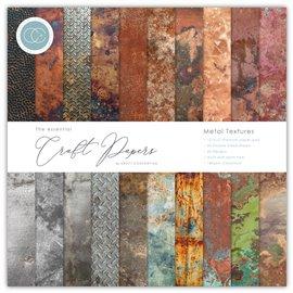 Papier scrapbooking Craft Consortium Metal Textures 30fe 30x30 assortiment