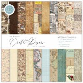 Papier scrapbooking Craft Consortium Vintage Emporium 30fe 30x30 assortiment