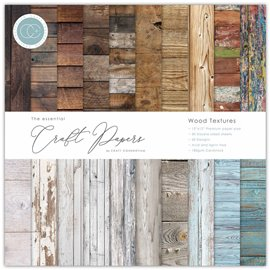 Papier scrapbooking Craft Consortium Wood Textures 30fe 30x30 assortiment