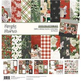 Simple Vintage Rustic Christmas 30x30 Kit Assortiment