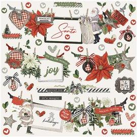 Stickers Simple Vintage Rustic Christmas