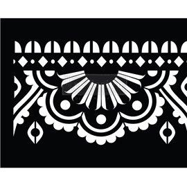 Pochoir adhésif en rouleau Redesign Mendhi Border 18cmx4,5m