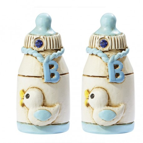 Embellissements bébé biberon bleu