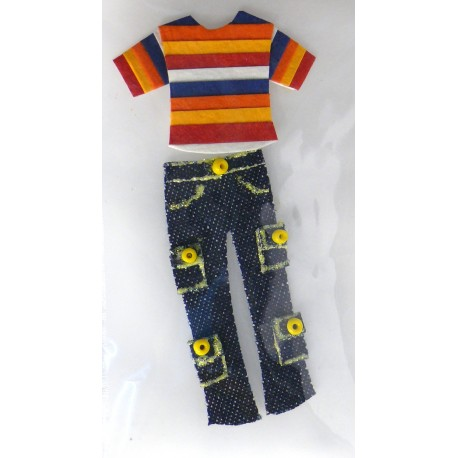 Stickers adhésifs jean avec tshirt