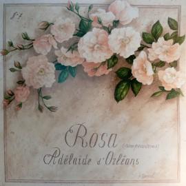 Carte d'art fleurs vincent perriol rose adelaïde d'orléans