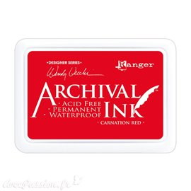 Tampon encreur Archival Ink Ranger carnation red