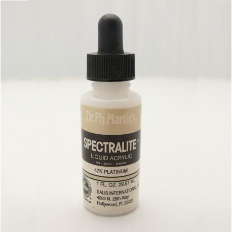 Encre acrylique Spectralite métallique platine