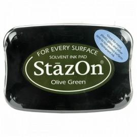 Tampon encreur Stazon vert olive green SZ51
