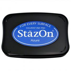 Tampon encreur Stazon bleu azur