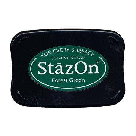 Encre Stazon vert permanente pour scrapbooking forest green