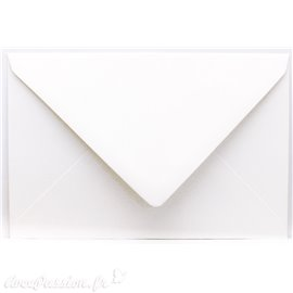 Enveloppes rectangle blanc 11x15.6cm qu50