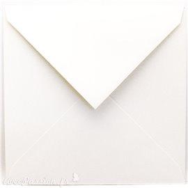 Enveloppe faire part carré blanc 15.5x15.5cm à l'unité