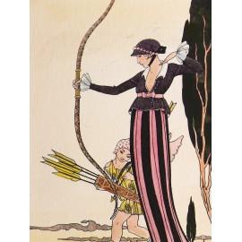 Gravure eau forte femme 1930