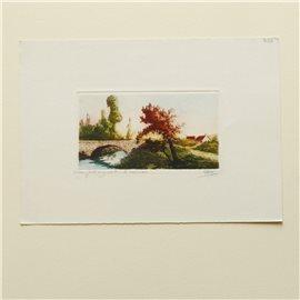 Gravure originale le ruisseau