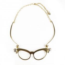 Ras de cou Dolce Vita lunettes dorées