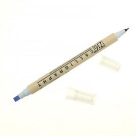 Feutre Zig calligraphie pointes biseautées bleu poudre ou jay