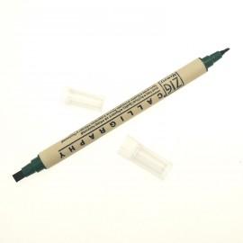 Feutre Zig calligraphie pointes biseautées hunter green