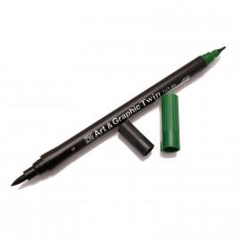 Feutre aquarellable Zig pointes rondes vert