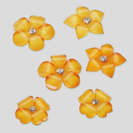 Fleurs acryliques orange 1.5 et 2cm
