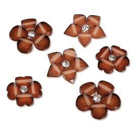 Fleurs acryliques marron 1.5 et 2cm