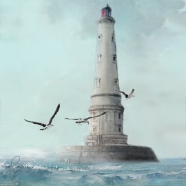 Carte d'art Valie Le Boeuf Phare de cordouan