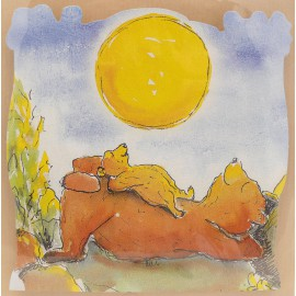 Carte postale la famille ours
