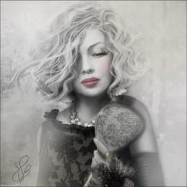 Carte d'art Valie Le Boeuf Marylou