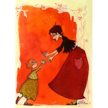 Carte postale Anne Soline lou et lélou