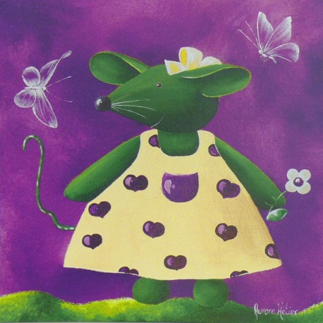 Carte postale souris Aurore Hétier