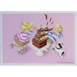Carte postale l'anniversaire des triplés
